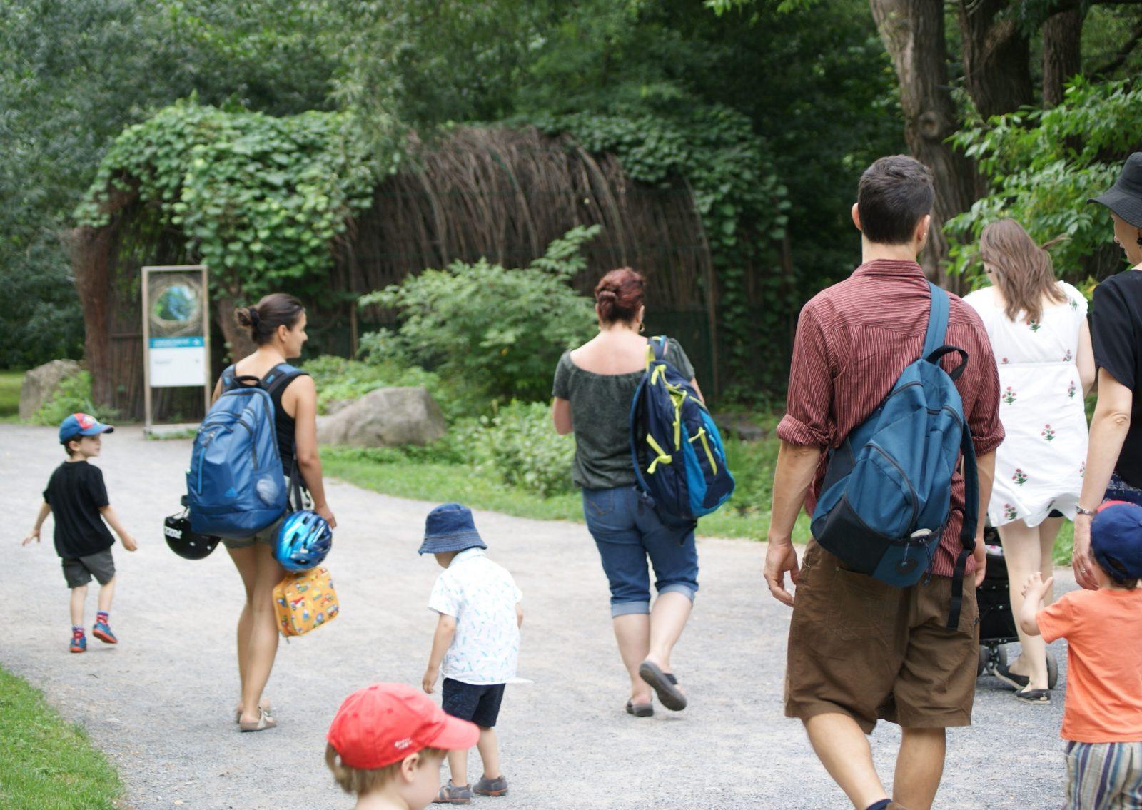 Familles de La Pirouette au Jardin Botanique